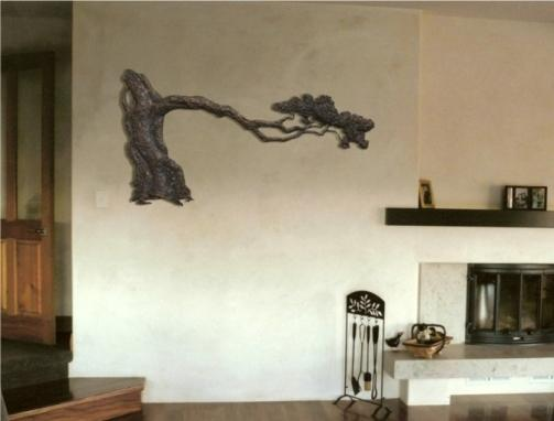 Pohutukawa bronze on wall 75