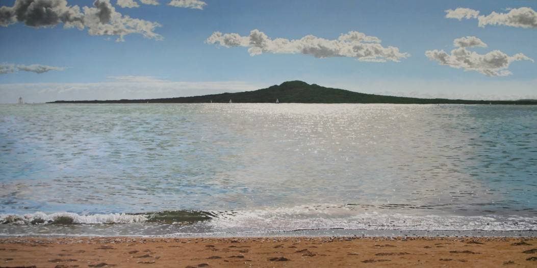 Rangitoto oil on canvas